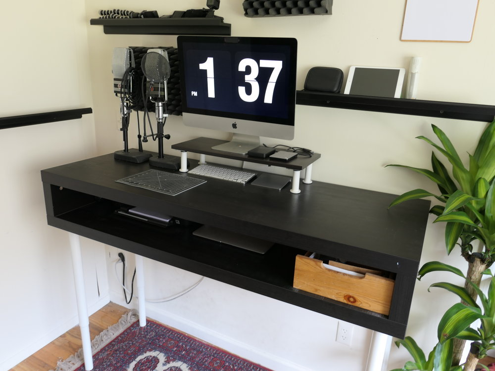 These Shelves Match The Aesthetic Of The Standing Desk, And Again, Bring A  Lot Of Extra Space And Organization To The Workspace. I Highly Recommend  Picking ...